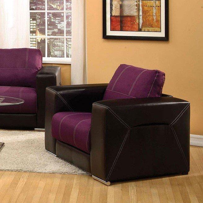 Brayden Chair (Purple And Black) Acme Furniture
