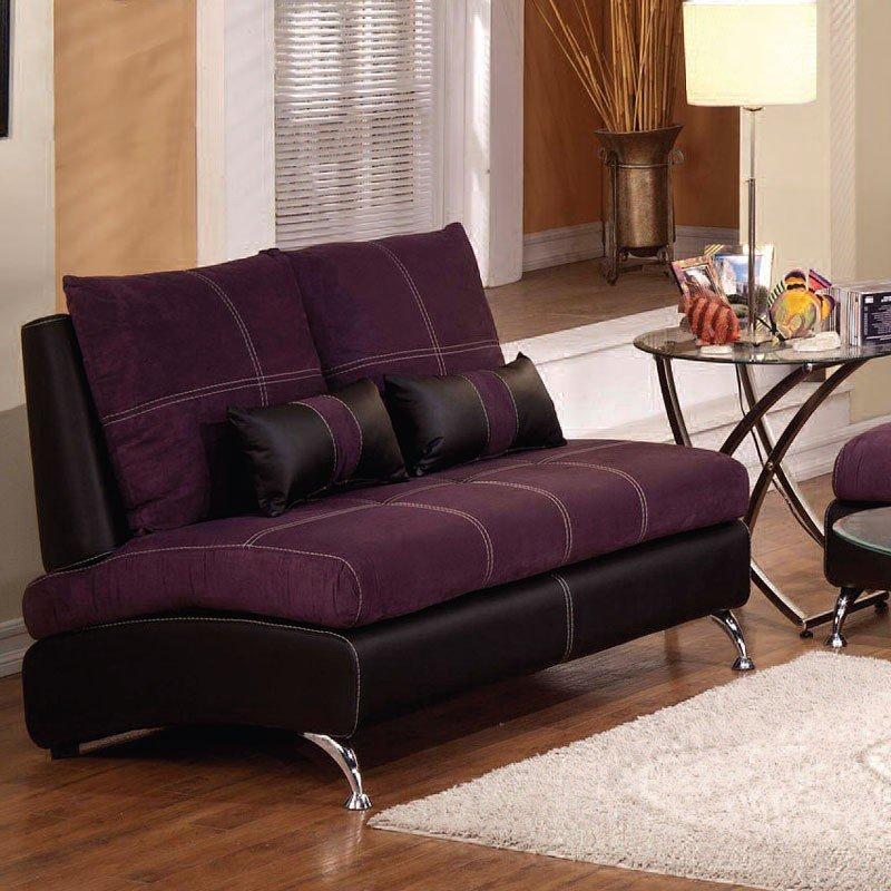 Jolie Loveseat (Purple And Black) Acme Furniture