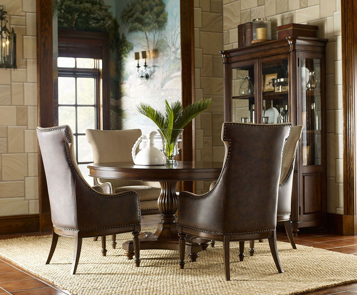 Picture of: Barrington Farm High Low Dining Room Set W Host Chairs Legacy Classic Furniture Cart