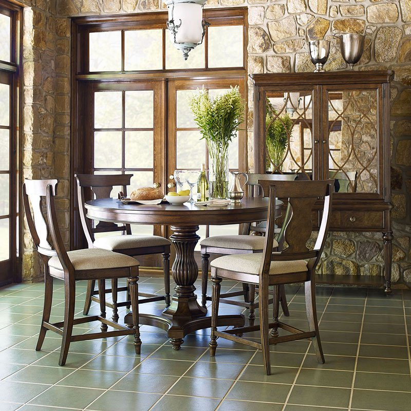 High Dining Room Sets: Barrington Farm High/Low Dining Room Set W/ Pub Chairs