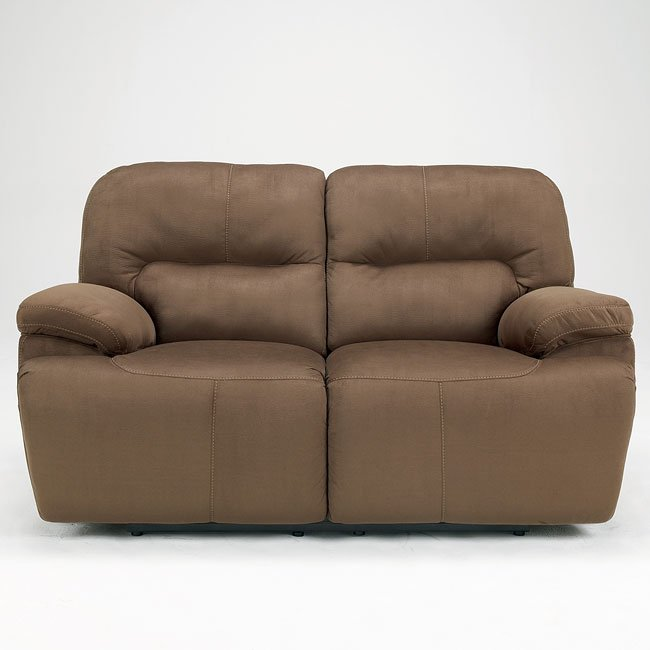 Keystone - Walnut Reclining Loveseat