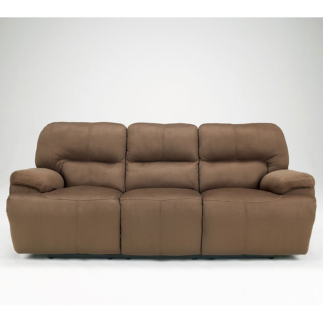 Keystone - Walnut Reclining Sofa