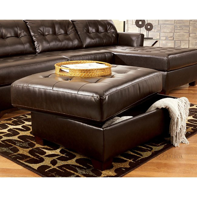 Dixon DuraBlend - Chocolate Ottoman with Storage