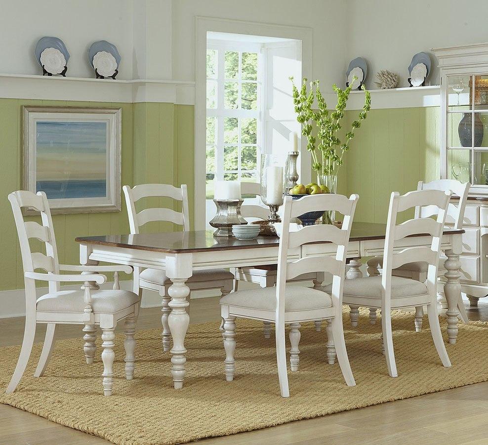 Pine Dining Room Sets: Pine Island Rectangular Dining Room Set W/ Ladder Back