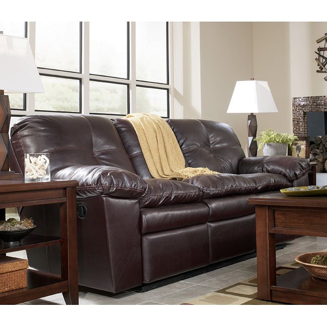 San Marco DuraBlend - Burgundy Reclining Sofa Signature Design ...