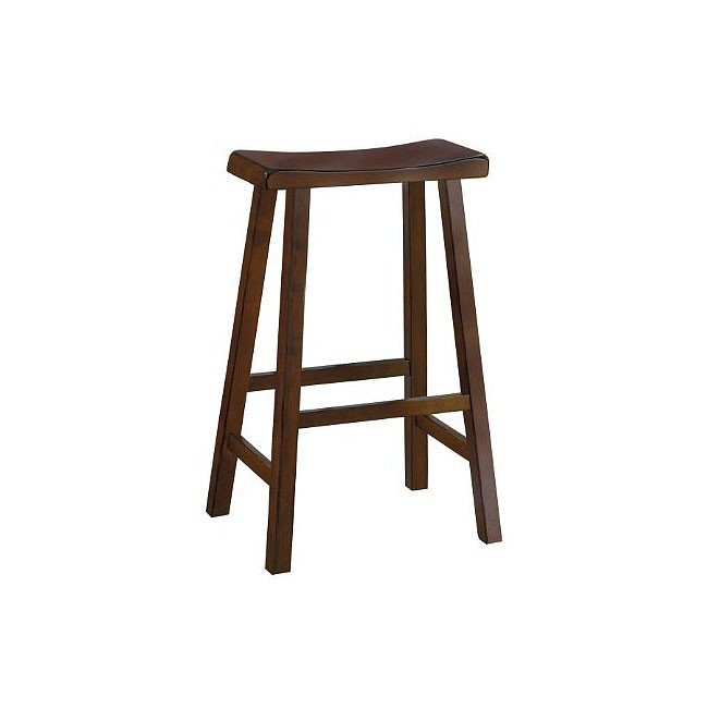 Saddleback 24 Inch Stool Cherry Set Of 2 Homelegance