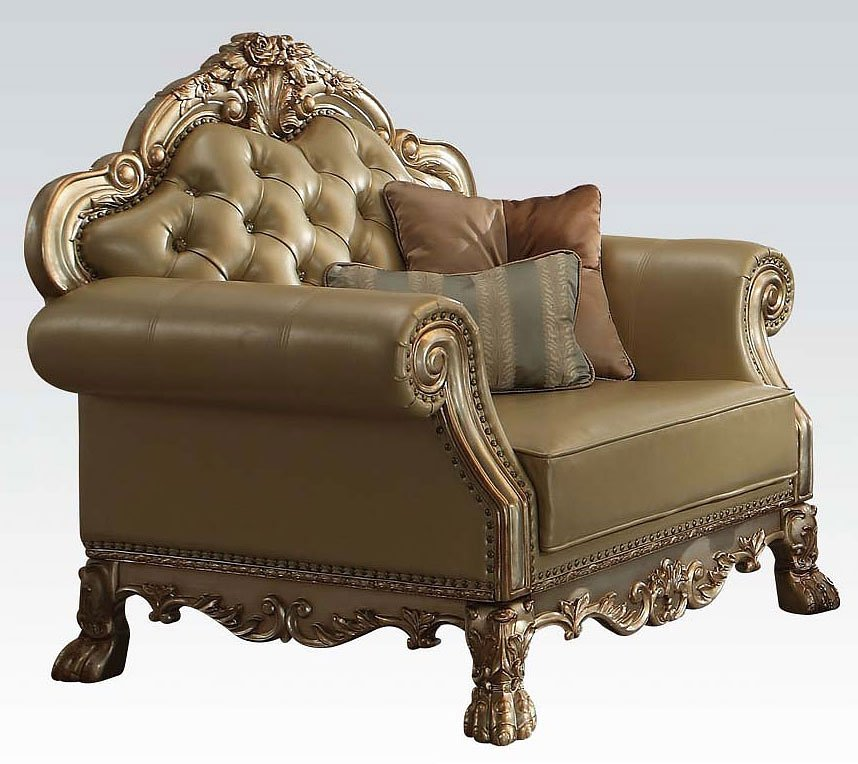 Dresden Living Room Set Gold Patina Acme Furniture 1