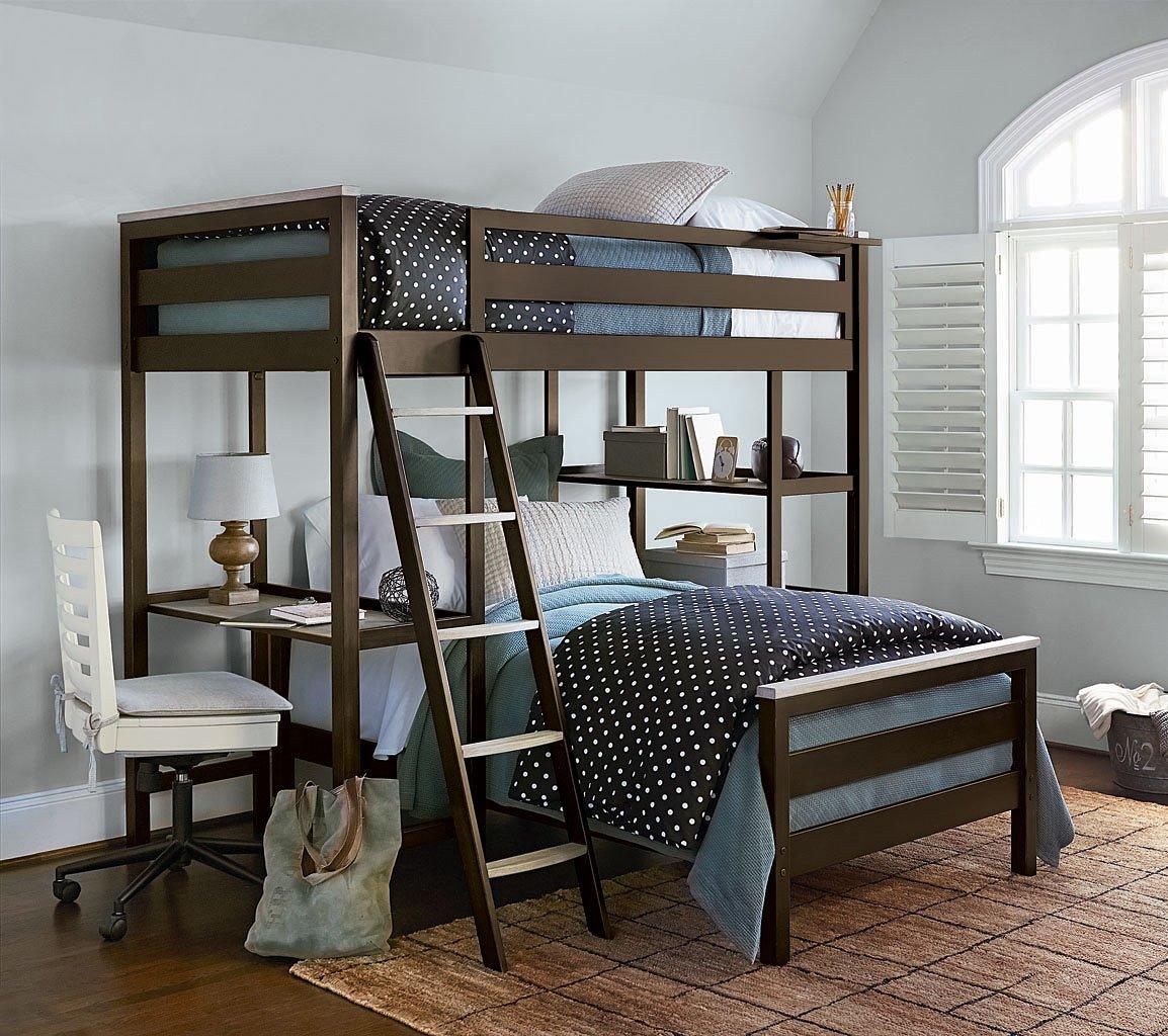 MyRoom Bunk Bedroom Set (Parchment/ Gray) SmartStuff