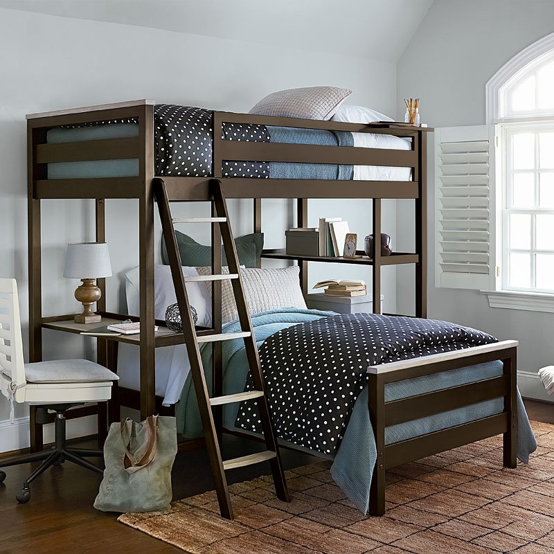 Myroom Bunk Bedroom Set Parchment Gray Smartstuff Furniture Furniture Cart