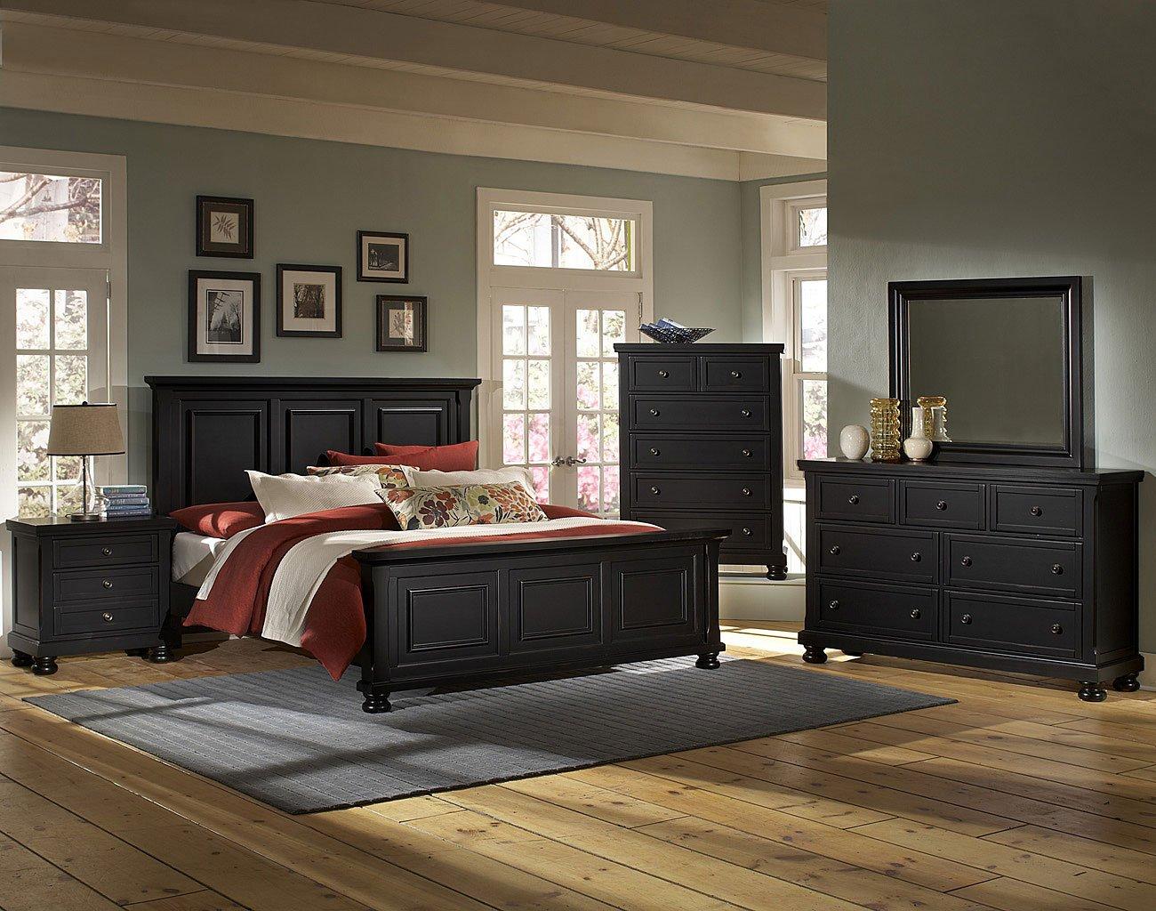 Attirant Reflections Mansion Bedroom Set (Ebony)
