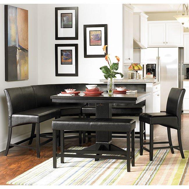 Kitchen Nook Measurements: Papario Counter Height Corner Nook Set Homelegance, 1