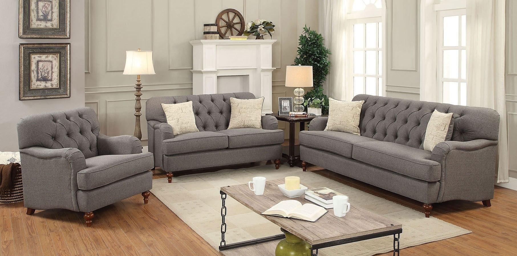 Alianza Living Room Set (Dark Gray) Acme Furniture