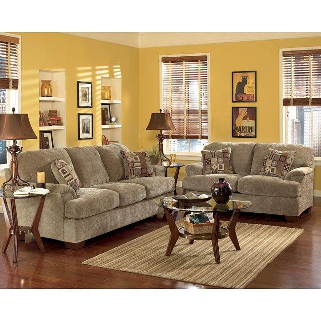 cityscape  taupe living room set signature design