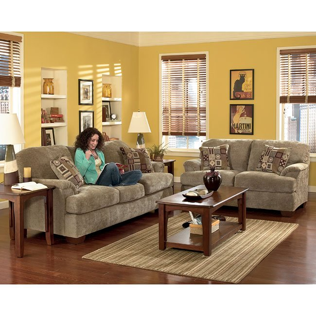 Cityscape Taupe Living Room Set