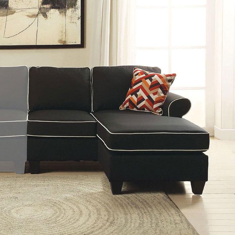 Kelliava Right Facing Loveseat Chaise (Black) By Acme Furniture