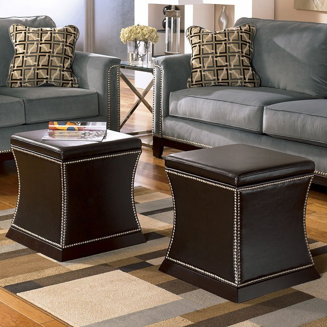 Entice - Mist Accent Ottoman w/ Storage (Set of 2)