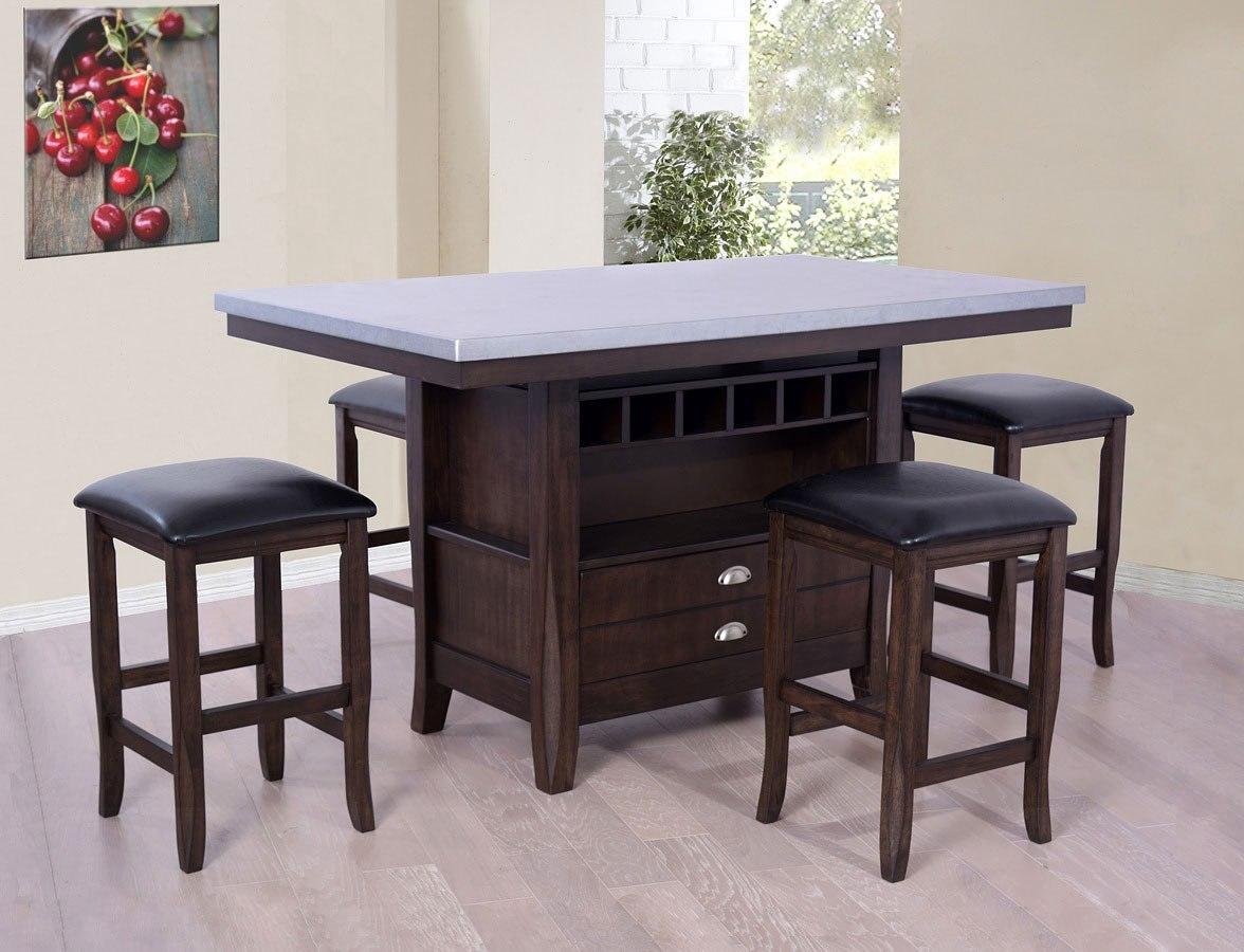 Hamilton Zinc Uv Island Set Eci Furniture Furniture Cart
