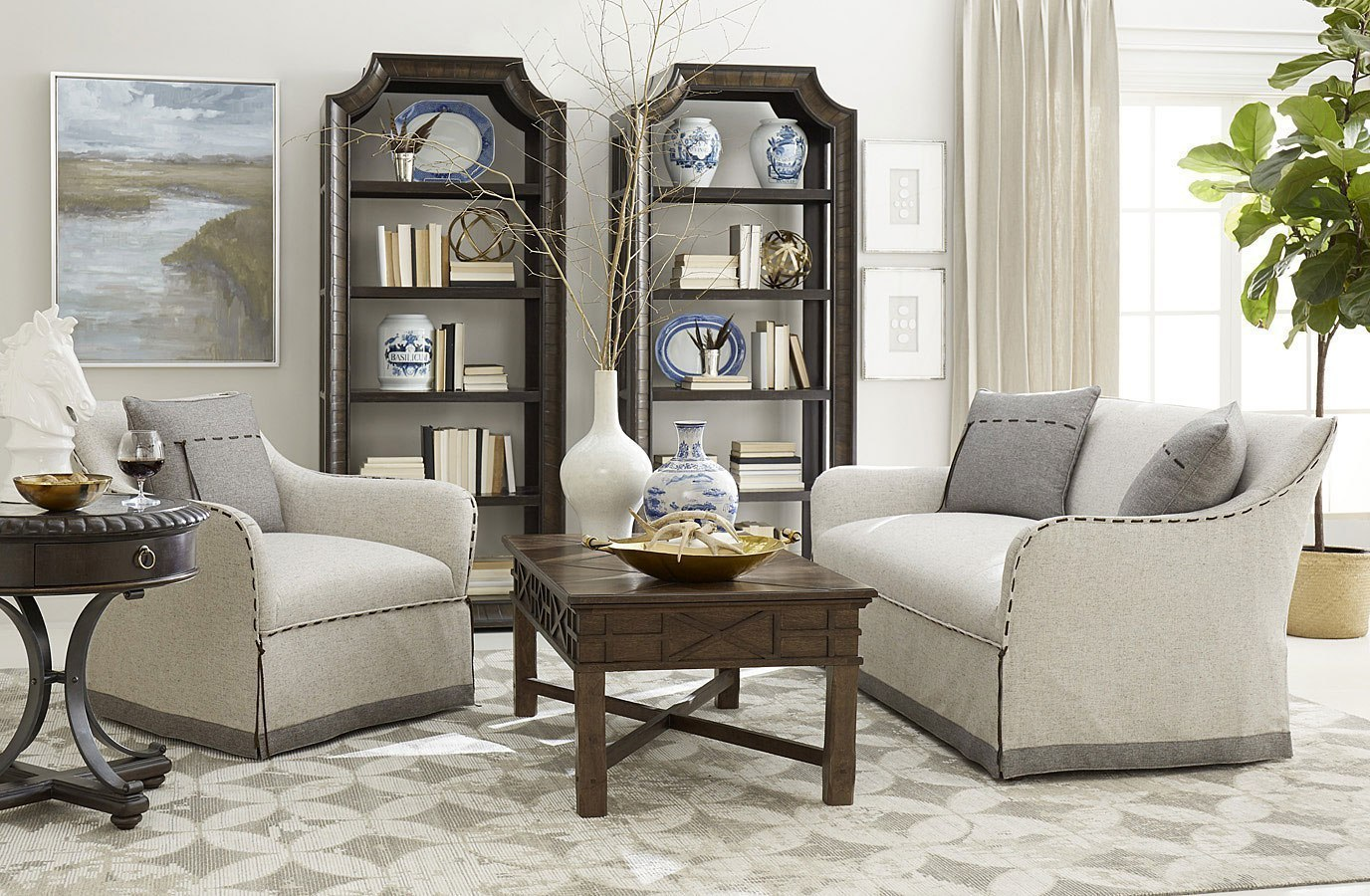 American Chapter Tryon Heather Grey Living Room Set