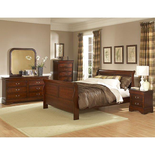 Ashley Furniture In Woodbridge Nj: Chateau Brown Sleigh Bedroom Set Homelegance