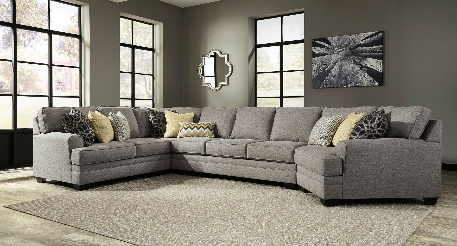 Pewter Sofa And Loveseat