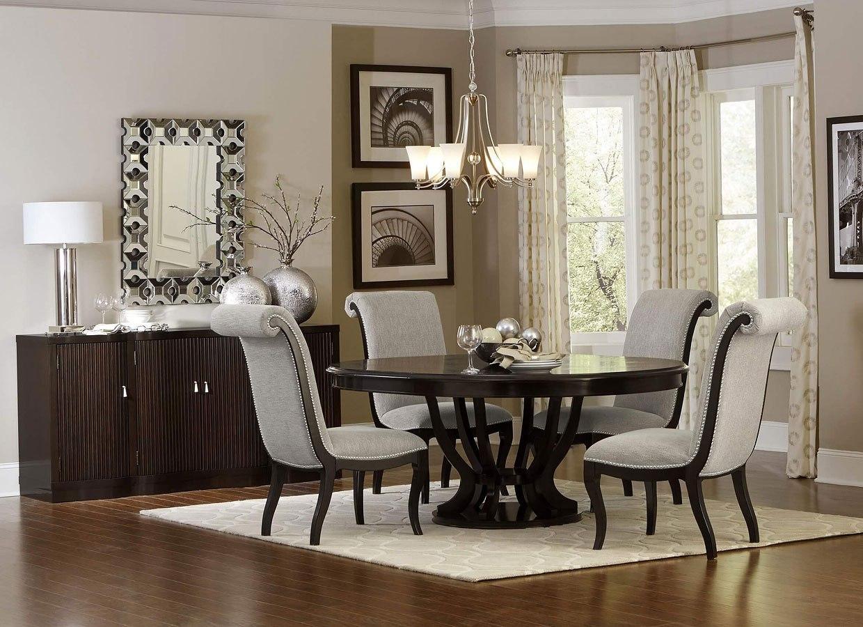 Savion Round Dining Room Set Homelegance Furniture Cart