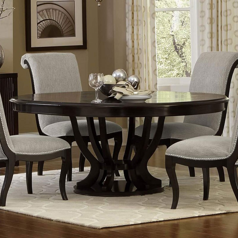 Round Dining Room Tables: Savion Round Dining Table Homelegance