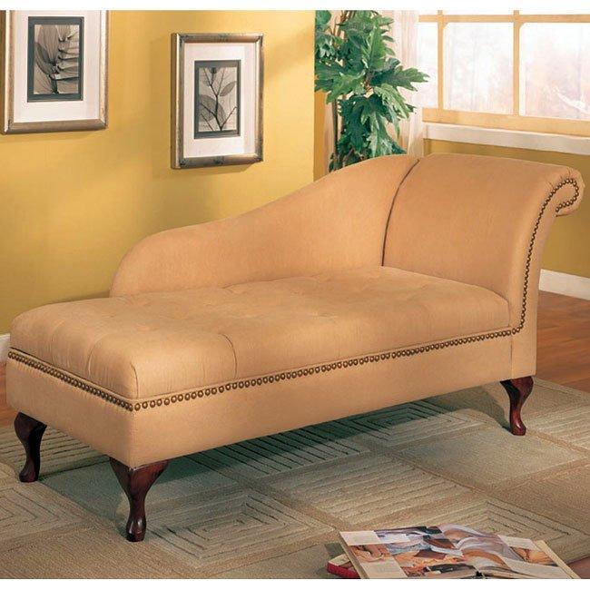Microfiber Chaise (Tan)
