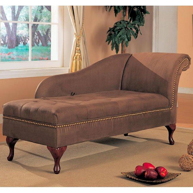 Microfiber Chaise (Brown)