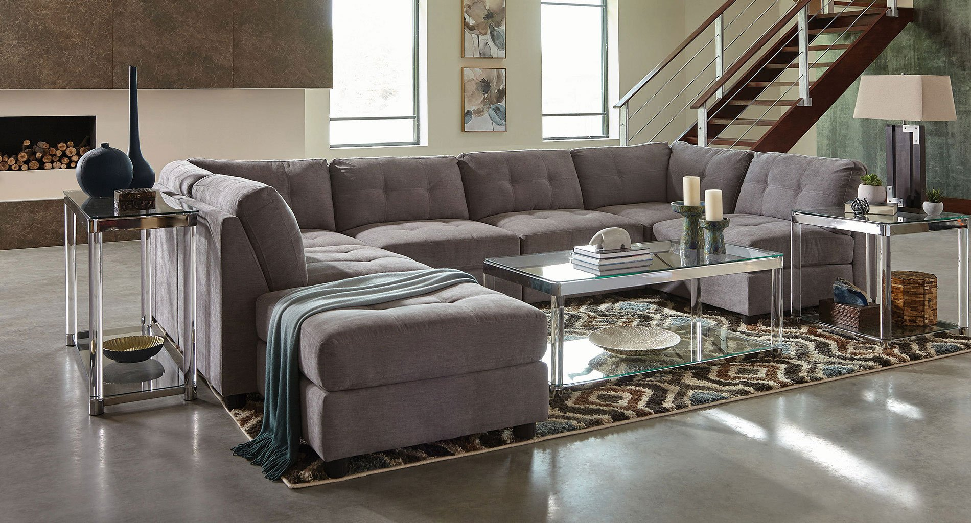 Charmant Claude Modular Sectional (Dove)