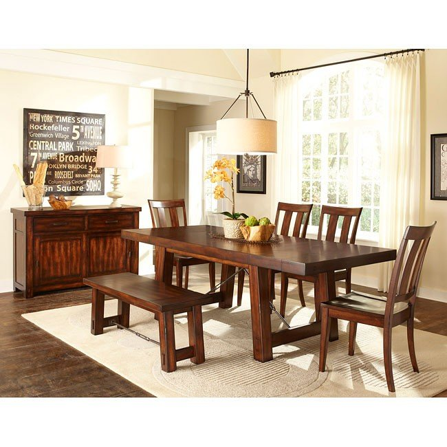 Pleasing Tahoe Dining Room Set W Bench Caraccident5 Cool Chair Designs And Ideas Caraccident5Info