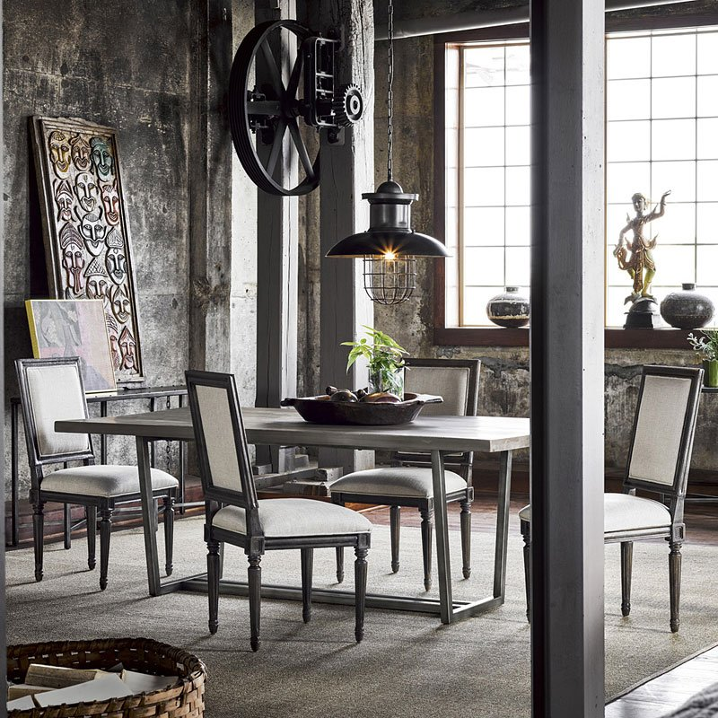 Curated Sedgwick Dining Set W Bergere Chairs