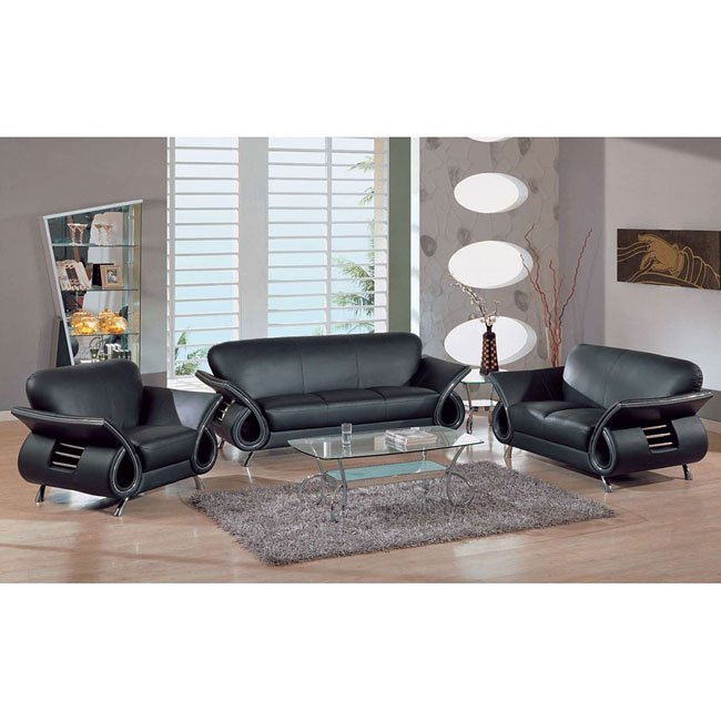 559 Black Modern Living Room Set