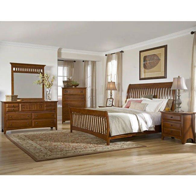 Simply Shaker Too Sleigh Bedroom Set