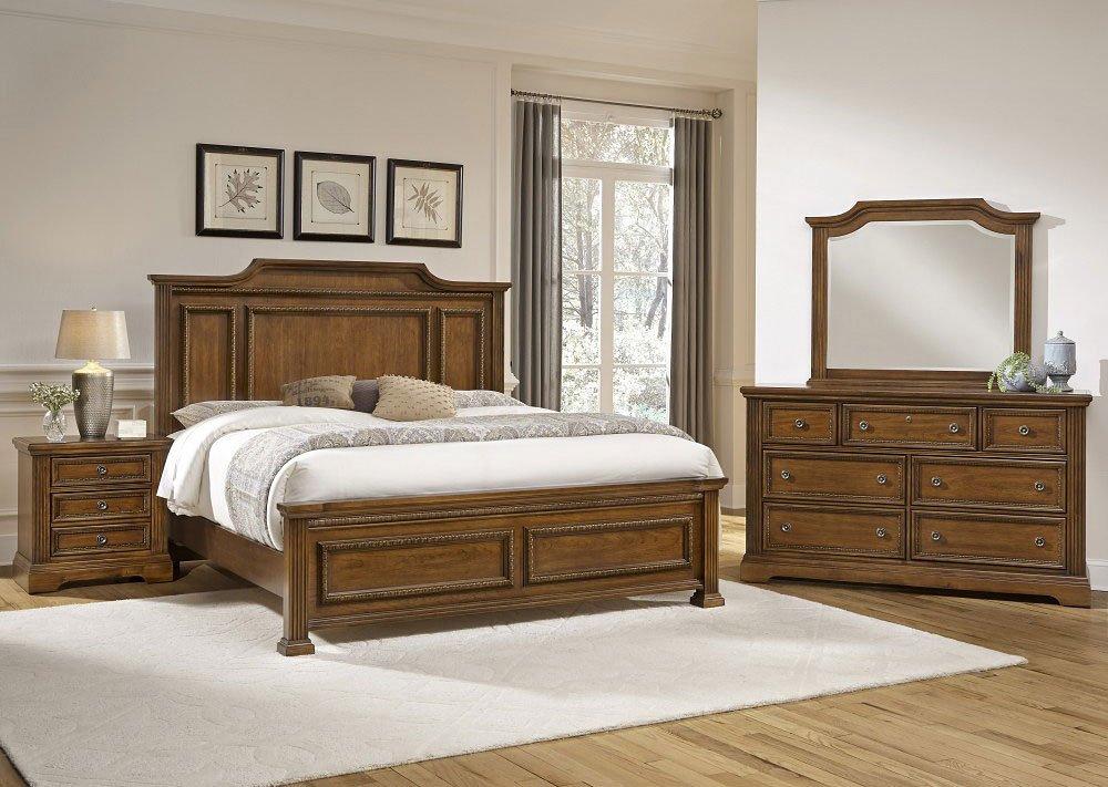 Affinity Mansion Bedroom Set (Antique Cherry) - Affinity Mansion Bedroom Set (Antique Cherry) Vaughan Bassett