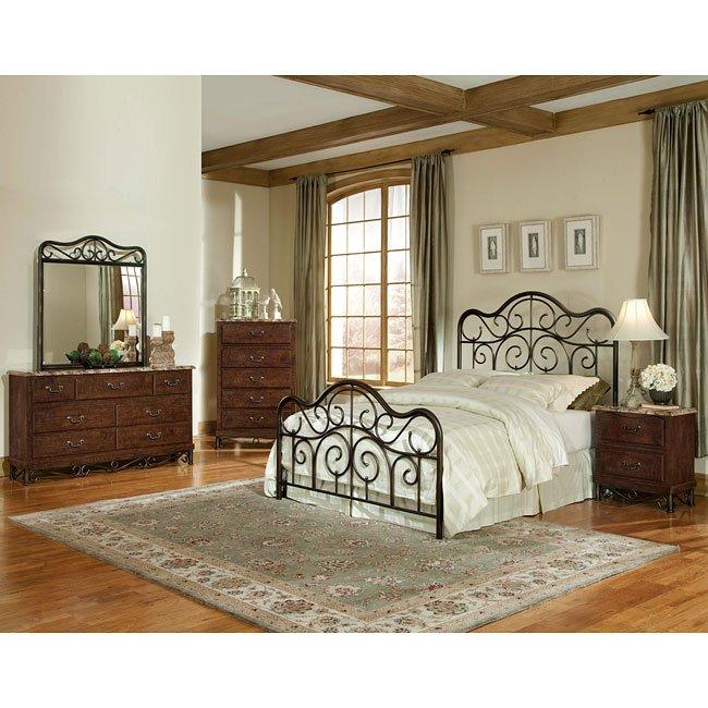 Santa Cruz Metal Bed Bedroom Set Standard Furniture, 1 Reviews ...