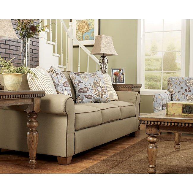 Sophia - Khaki Living Room Set Signature Design | Furniture Cart