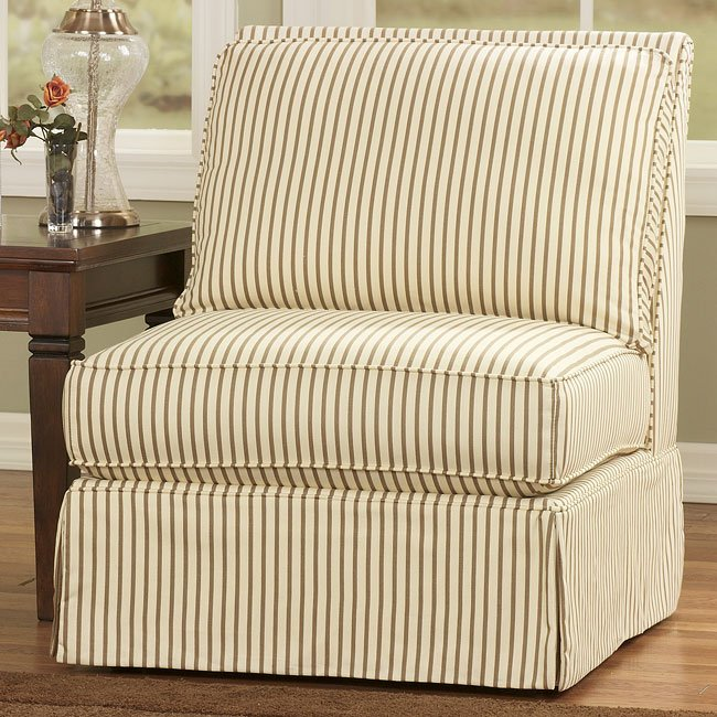 Sophia - Khaki Armless Chair