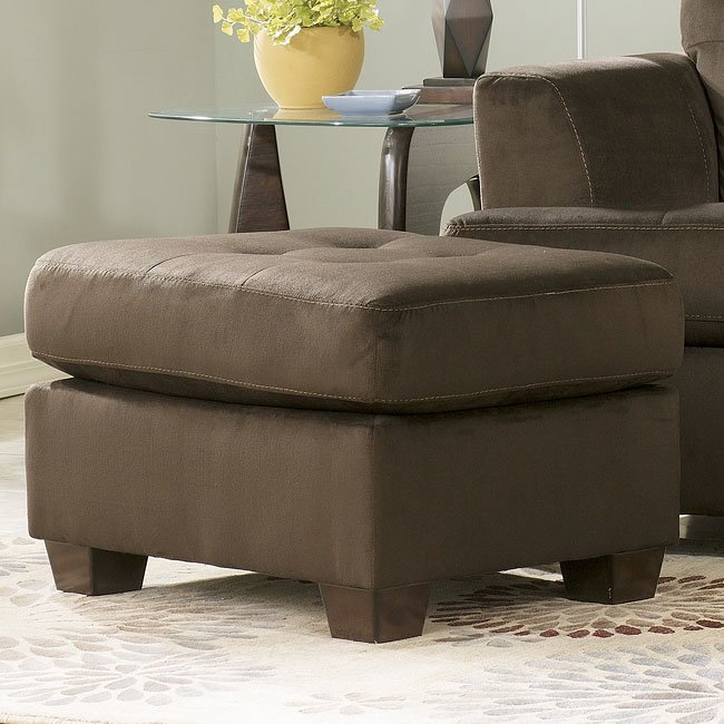 Dallas - Chocolate Ottoman