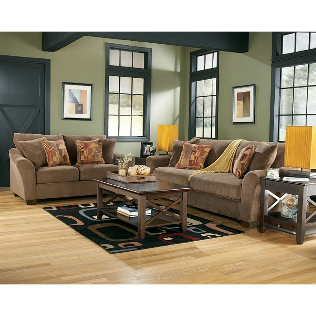 Brown Living Room Set Signature Design By Ashley