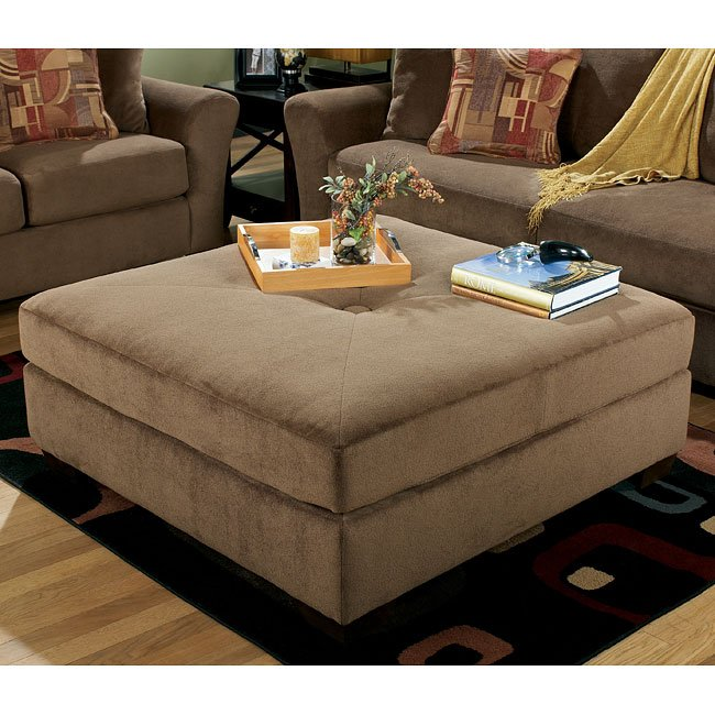 Macie - Brown Oversized Accent Ottoman