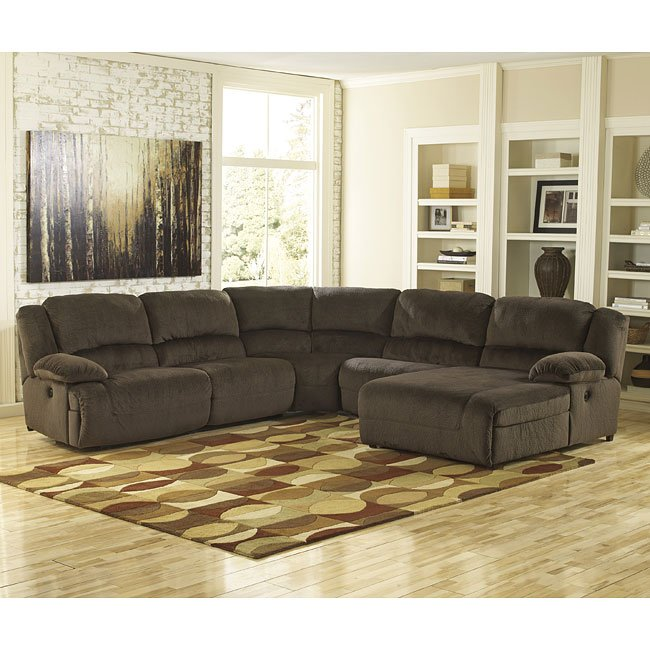 Toletta Chocolate Reclining Sectional