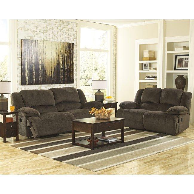 Toletta Chocolate Reclining Living Room Set