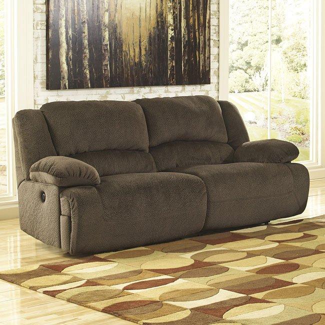 Toletta Chocolate Reclining Power Sofa