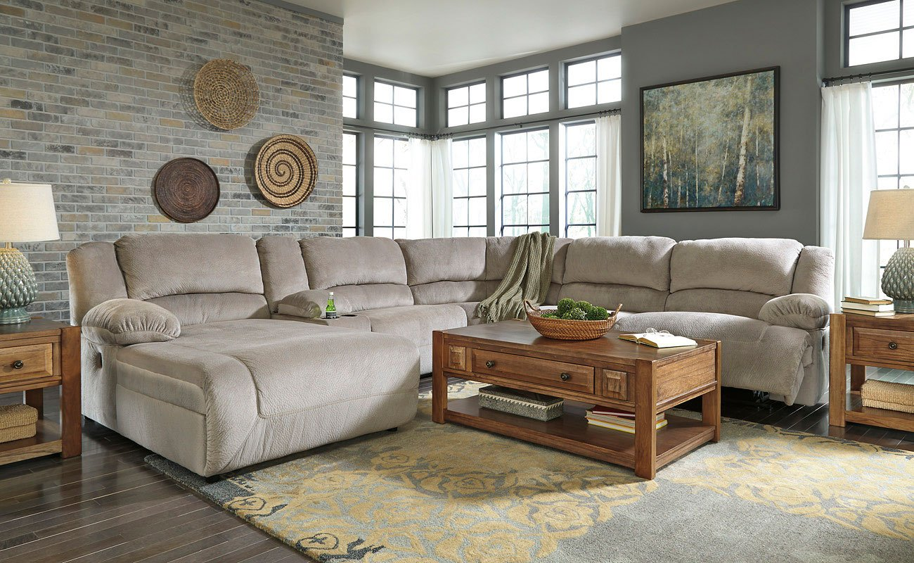 Toletta Granite Power Reclining Sectional Set Signature