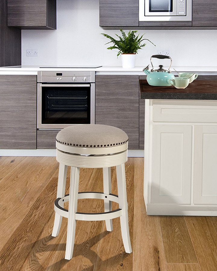 Tillman Backless Counter Height Stool White Hillsdale