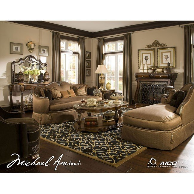 The Sovereign Living Room Set Aico Furniture Furniture Cart