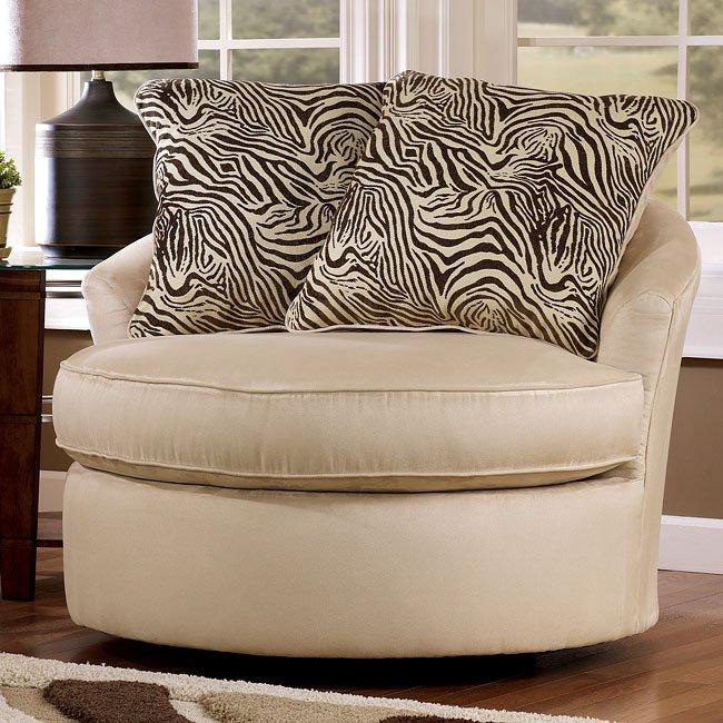 Rayanne - Stone Round Swivel Chair