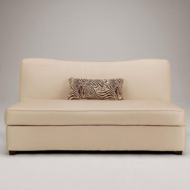Rayanne - Stone Flip Flop Armless Sofa