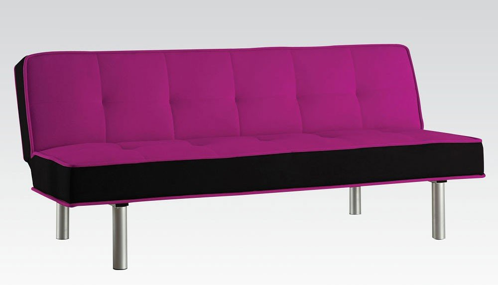 Hailey Sofa Bed (Purple And Black) Acme Furniture