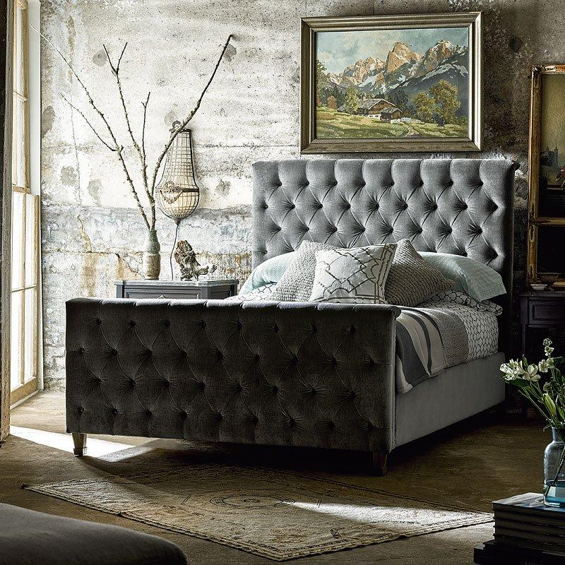 Authenticity Franklin Street Bedroom Set (Gray Velvet)